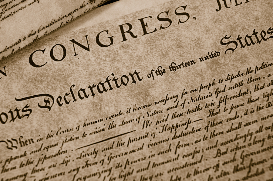 The Declaration of Independence in 2020